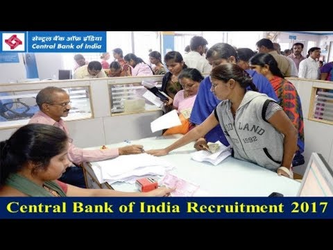 Central Bank of India Recruitment 2017 | Bank jobs | Latest Govt jobs  Apply Now