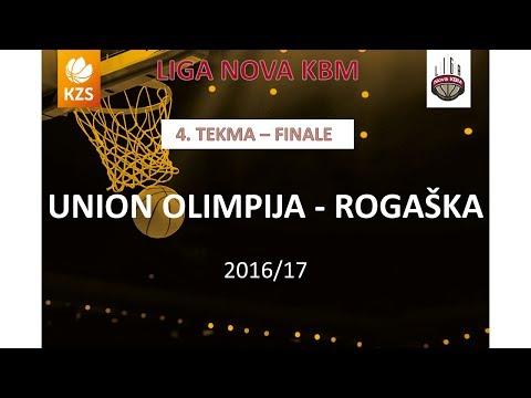 Union Olimpija : Rogaška - 4. tekma, finale - Liga Nova KBM - Sezona 2016/17