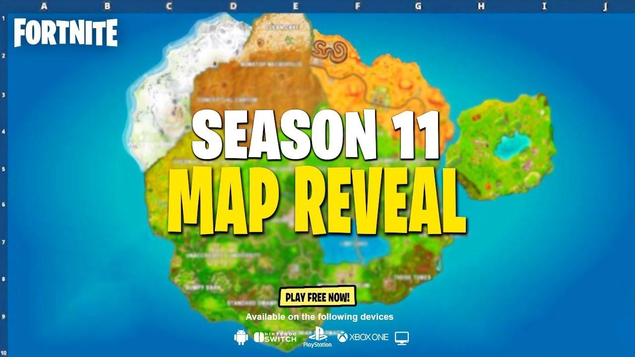 Fortnite Season 11 Map Reveal