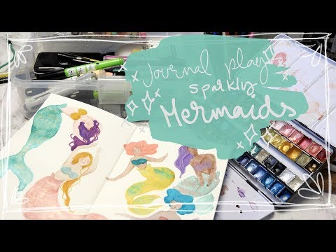Sparkly Mermaids With Handmade Watercolors From Julia K Art Studio