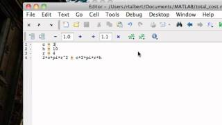 Script M-Files in MATLAB