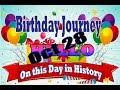 Birthday Journey October 28 New