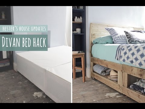 Divan bed hack, rustic bed with lots of storage