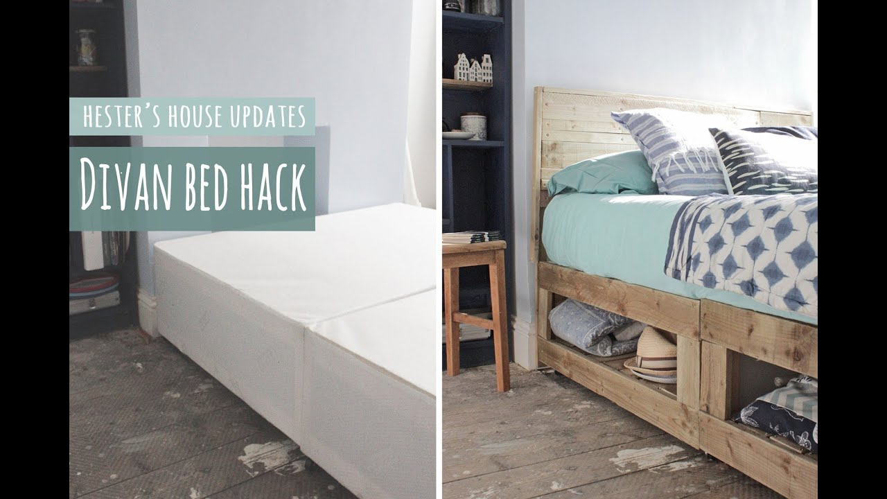 Divan Bed Hack Rustic Bed With Lots Of Storage Youtube