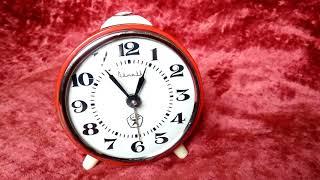 Обзор будильника часы Clock Витязь красные ссср винтаж старые