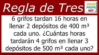 REGLA DE TRES COMPUESTA - Problema 5