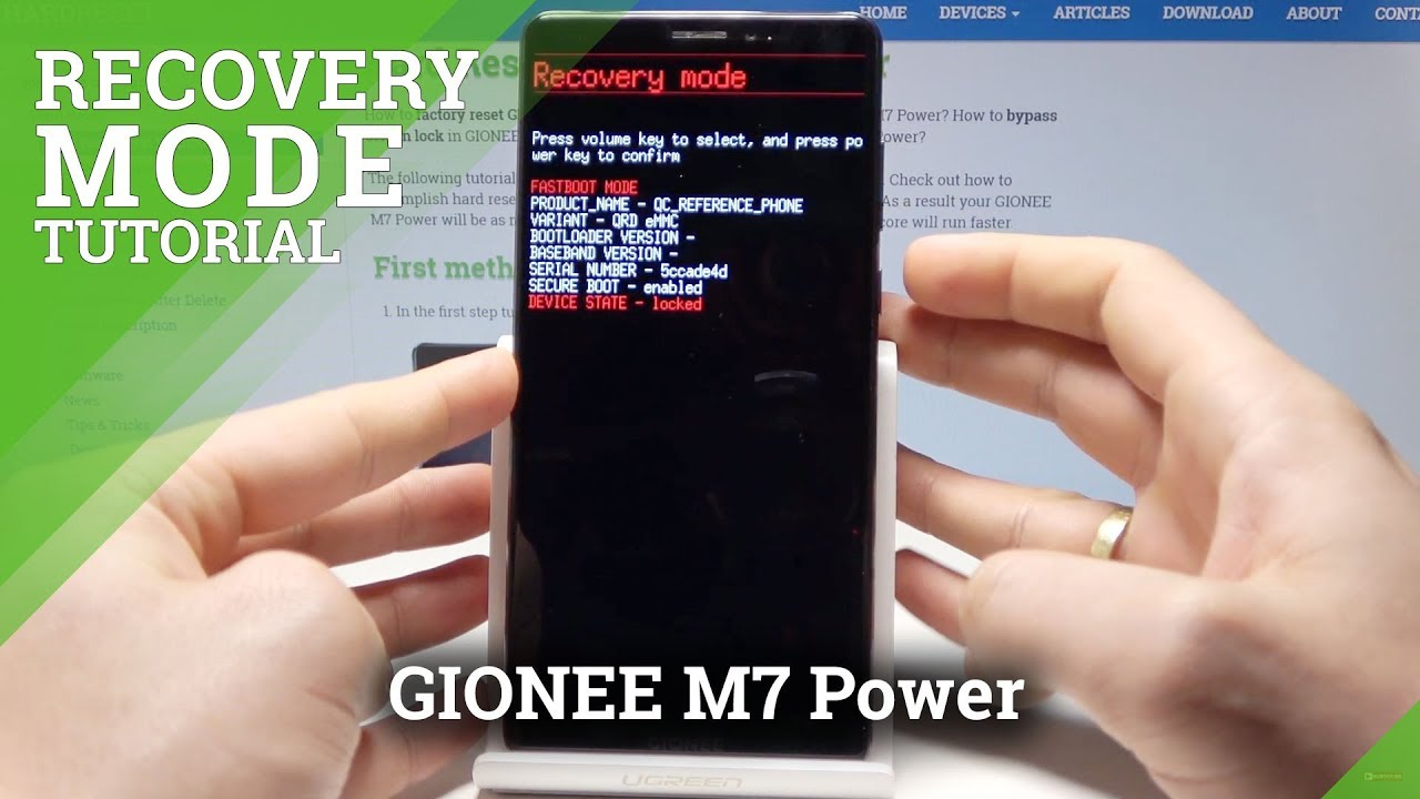 How to Boot Recovery Mode on GIONEE M7 Power - Android Recovery System