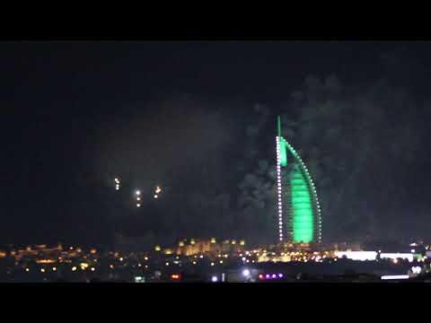 New year 2020 fireworks at Burj Al Arab, Dubai