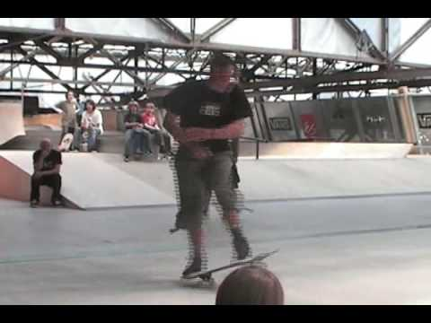 360 Spin Contest Held At The Amsterdam Freestyle Skateboard Contest