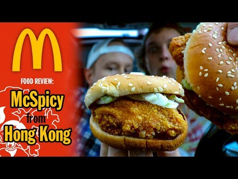 Hong Kong's McSpicy Chicken Sandwich Food Review   Eating at McDonald's Headquarters in Chicago