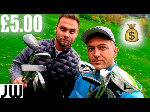 £5 SECOND HAND GOLF CLUB CHALLENGE!! We Play With Clubs From The DUMP...