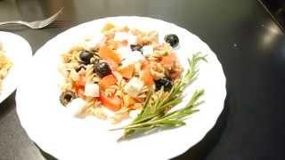три блюда с макаронами из полбы