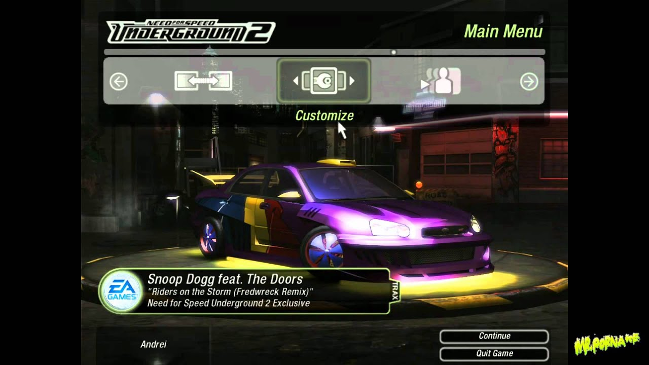 How to play NFS: Underground