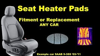 Seat Heater Pad Installation - Any Car - How To Replace Fix mend swap