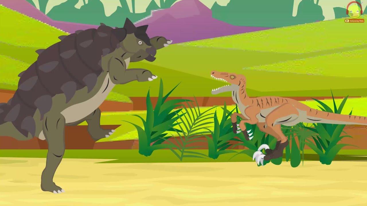 Ankylosaurus vs Velociraptor | ไดโนเสาร์ต่อสู้กัน Dinosaur Battle