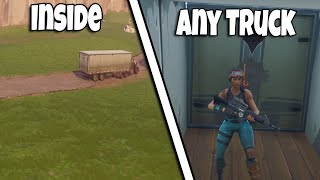 HOW TO GET INSIDE ANY TRUCK ON THE MAP AFTER PATCH | FORTNITE BR GLITCH
