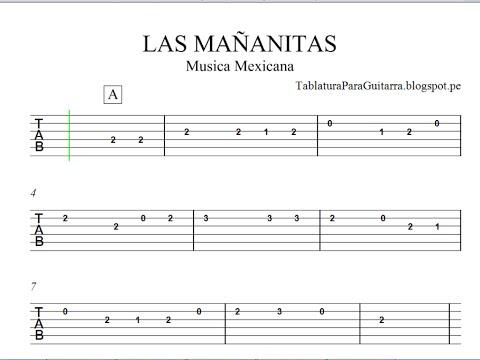 Guitar las mananitas guitar tabs : Las Mañanitas - Tablatura para Guitarra - YouTube