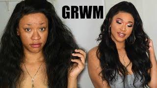 HOW TO: HALF UP HALF DOWN TUTORIAL FT LAKI HAIR