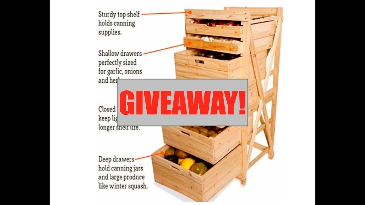 Giveaway Deep Drawer Harvest Storage Rack By Gardener S Supply Company