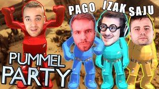 UCZĘ EKIPĘ GRAĆ W PUMMEL PARTY! (w/ IZAK, PAGO, SAJU)