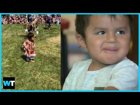 ADORABLE TODDLER Dances His Butt Off For National Indigenous People's Day | What's Trending Now! thumbnail