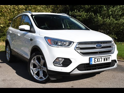 used ford kuga 2 0 tdci titanium 5dr 2wd frozen white 2017. Black Bedroom Furniture Sets. Home Design Ideas