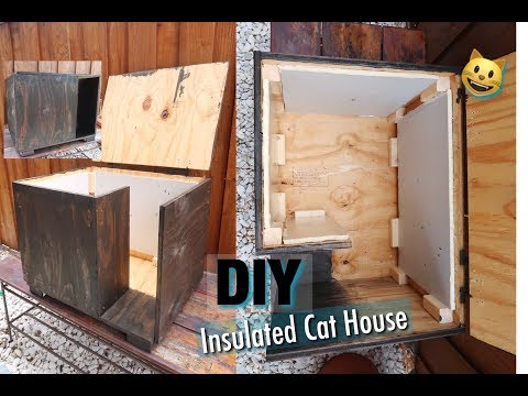 DIY INSULATED CAT HOUSE *INEXPENSIVE*