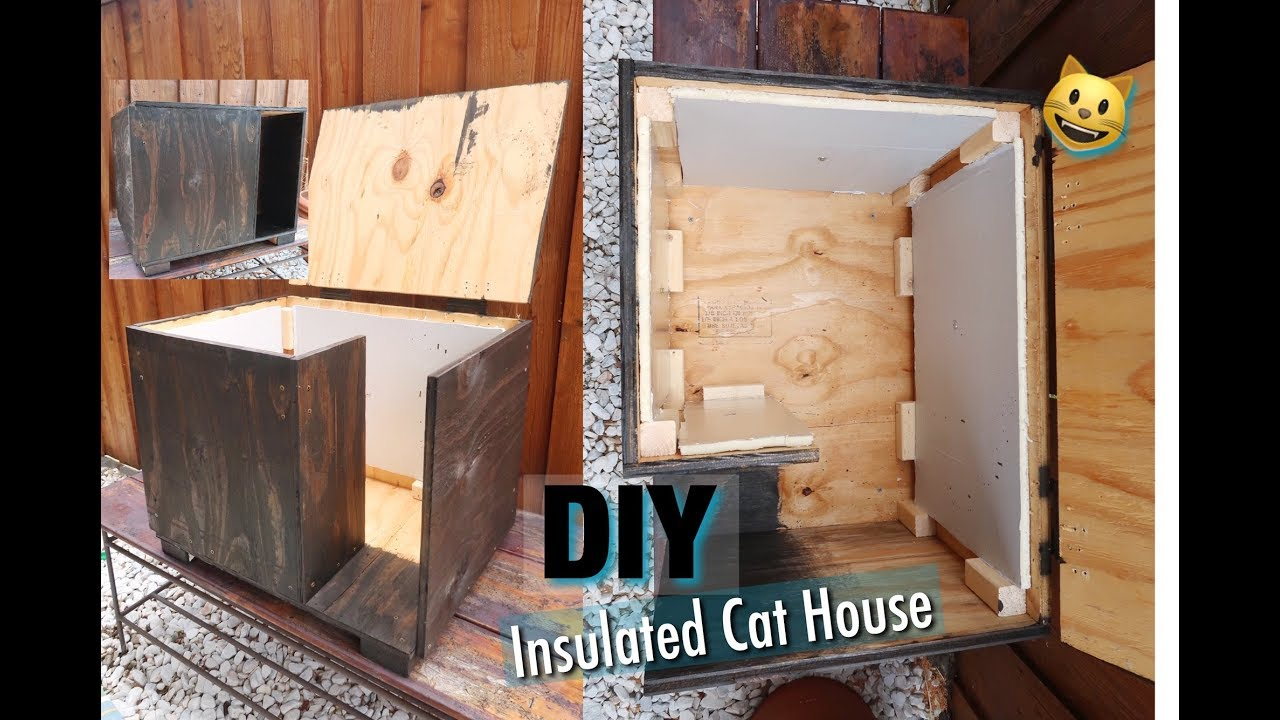Diy Insulated Cat House Inexpensive Youtube