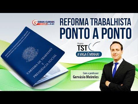 Reforma Trabalhista - Ponto a Ponto com o professor José Gervásio