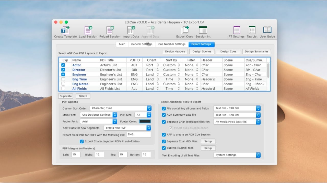 EdiCue - Cue ADR and Department Notes within Pro Tools