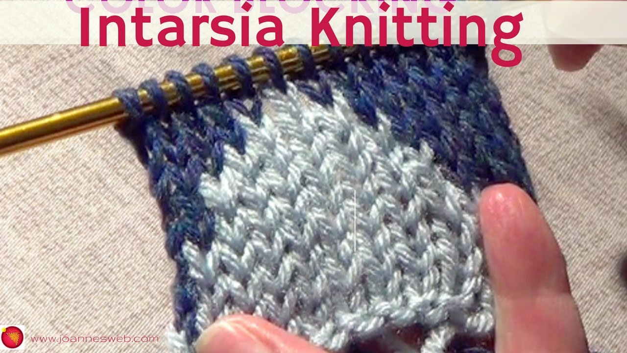 Color Knitting Patterns : Knitting Color Blocking Two Color Knitting Intarsia - YouTube