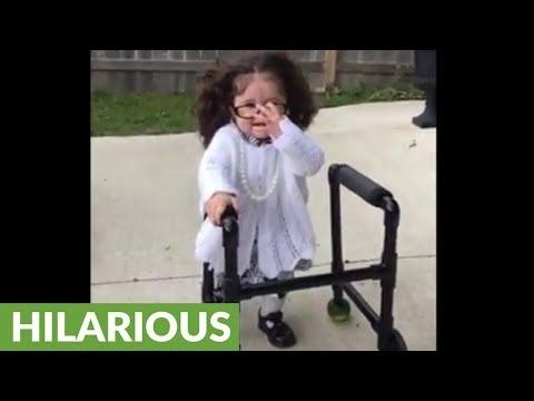 Baby Shows Off Hilarious Grandma Halloween Costume