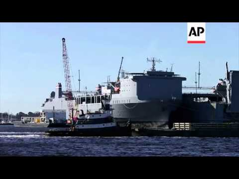 Ship is outfitted with processing equipment needed to destroy Syria's chemical weapons