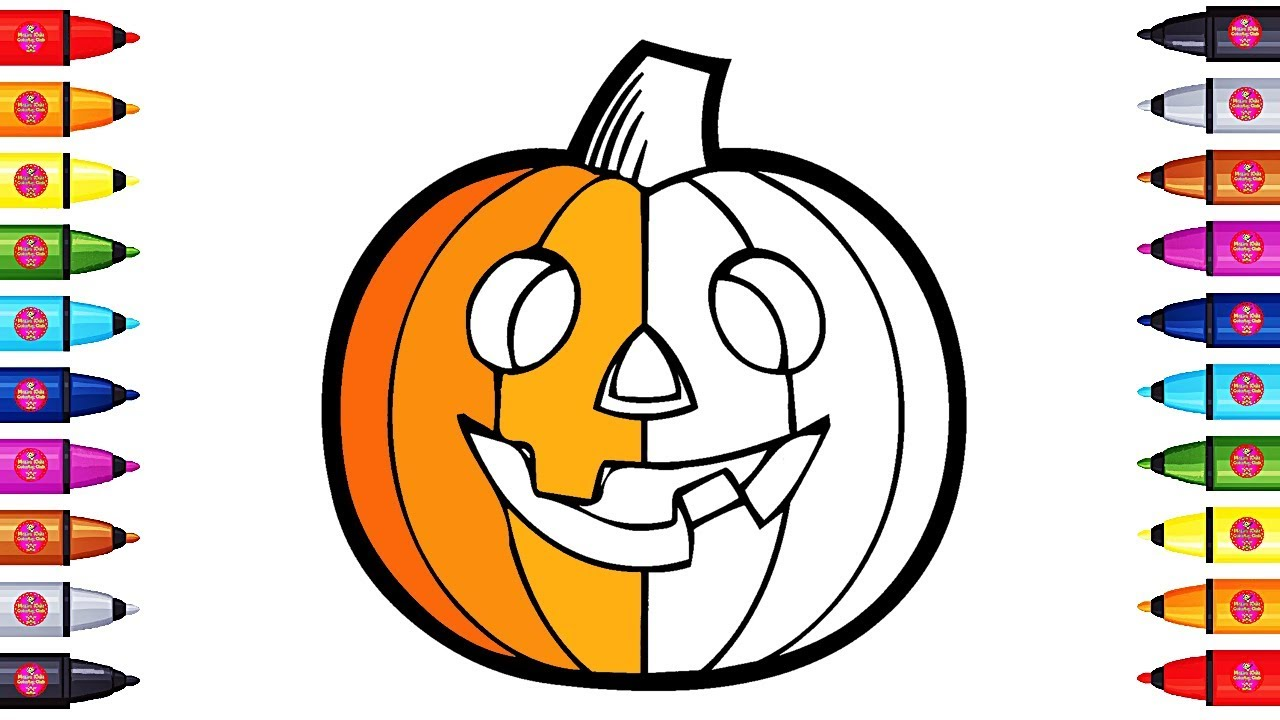 Learn Colors with Pumpkin Halloween Coloring Pages for ...