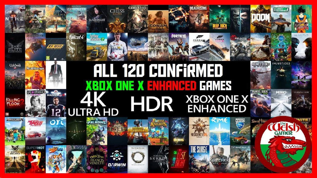 updated full list of 120 xbox one x enhanced games. Black Bedroom Furniture Sets. Home Design Ideas