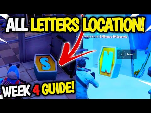 Search The LETTERS O, S, M, N  GUIDE! All NOMS LETTER LOCATION (From Stage 1-5) Fortnite WEEK 4