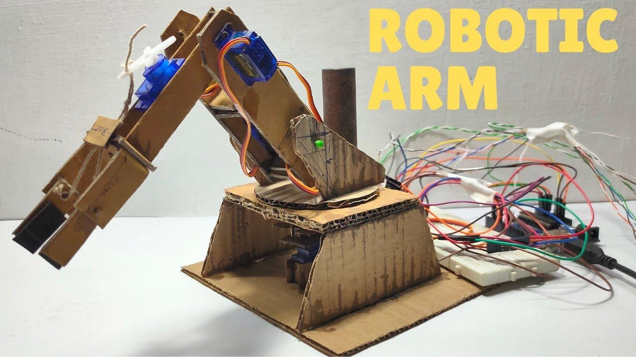 How to make robotic arm Using Servo And Adruino | Arduino Project