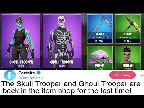 Epic Games Responds to Skull Trooper Coming Back to Fortnite Battle Royale...