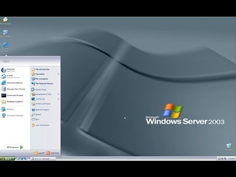 OS Exploration: Windows Server 2003 Enterprise + Themes Enabled