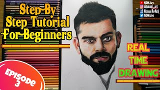 TUTORIAL DRAWING ◾How to draw Virat Kohli/ Episode 3/ Step By Step/ how to draw beard for beginners