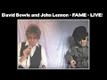 watch he video of David Bowie and John Lennon  - FAME - LIVE!