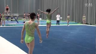 Tan Jiaxin FX training 2014 Worlds Nanning Day 1
