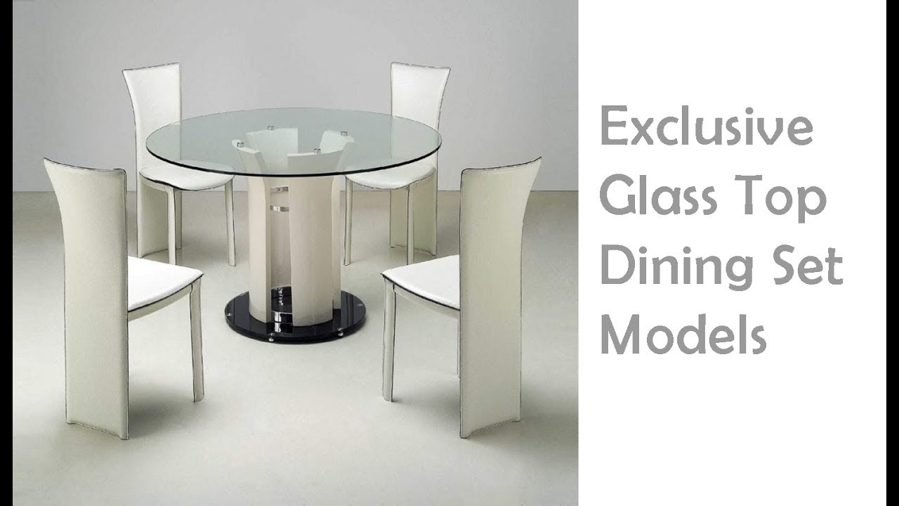 Glass Top Dining Table Chair Models World Best Modern Collections Forever