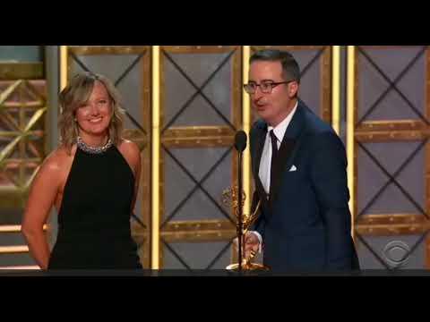 Emmys 2017 - John Oliver Wins His Second Emmy Award - John Oliver Acceptance Speech