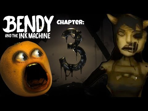 Bendy & the Ink Machine #4: Ch.3 - ALICE ANGEL! 🍊 👿 [Annoying Orange SHOCKTOBER]