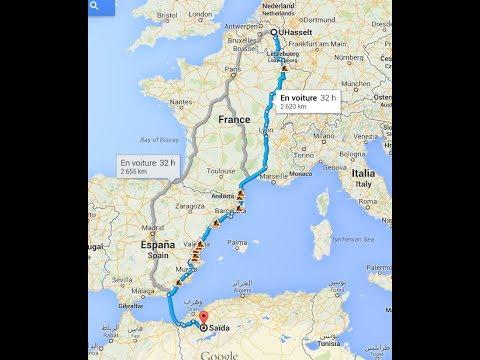 Vlog #7 En route vers l'Algerie 2013 (Belgium - Luxembourg - France - Spain - Algeria )