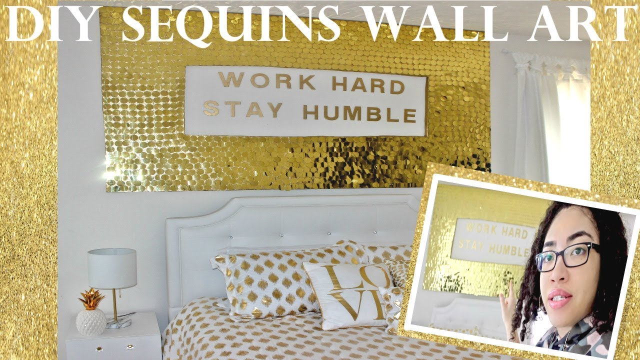 DIY Sequins Wall Art - YouTube