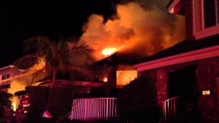 ORANGE, CALIFORNIA 3 ALARM HOUSE FIRE