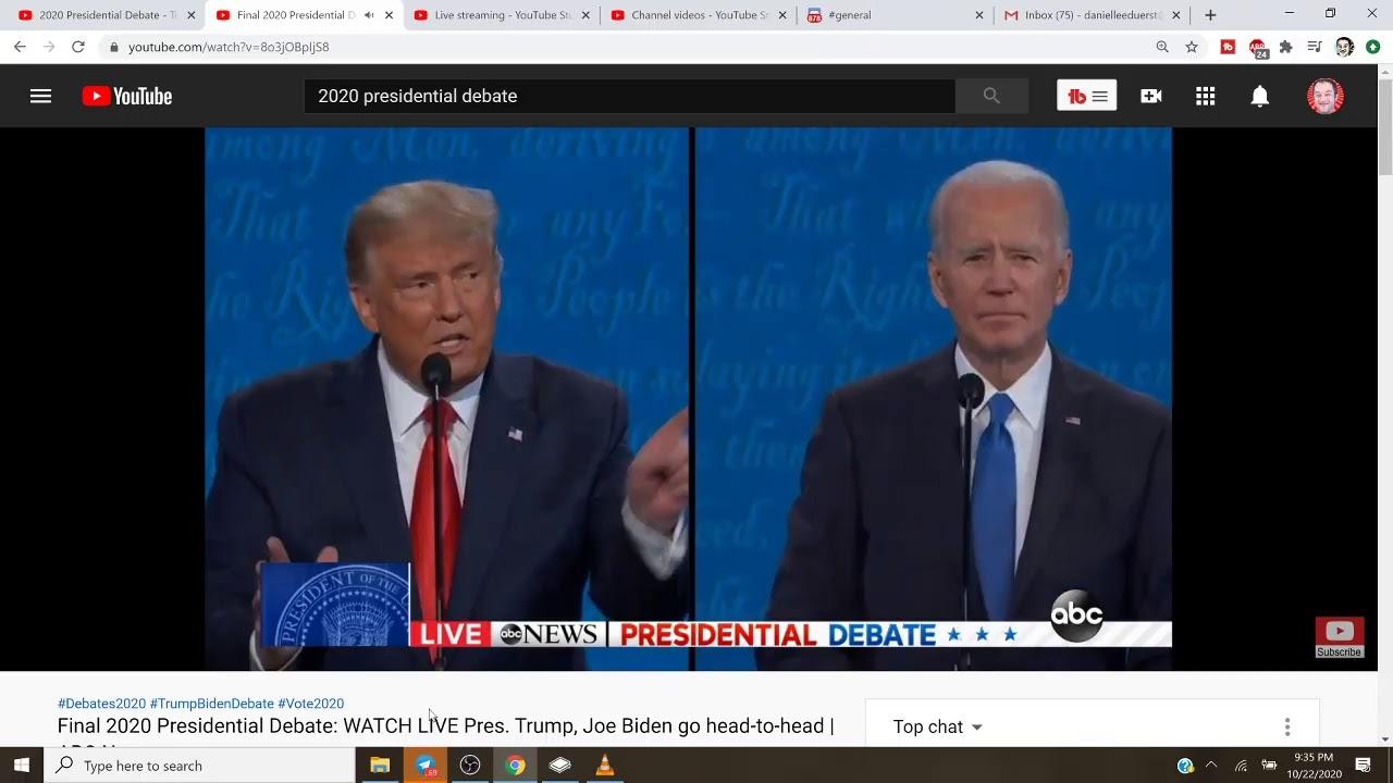 2020 Presidential Debate - Trump Vs. Biden Duerstream #3