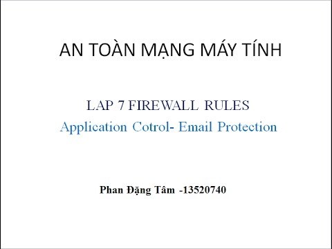 Lap7 -Firewall- Application- Email Protection